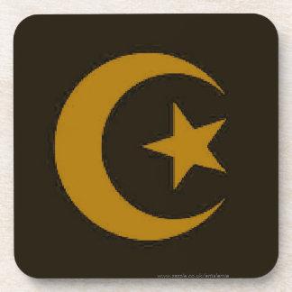 Moon and Star Islamic Drink Coaster