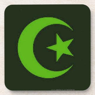 Moon and Star Islamic Beverage Coaster