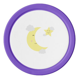 Moon and Star Poker Chips