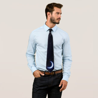 Moon and Stars (1 side) Tie