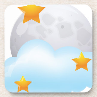 Moon and Stars Drink Coaster
