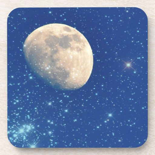 Moon and Stars Drink Coasters