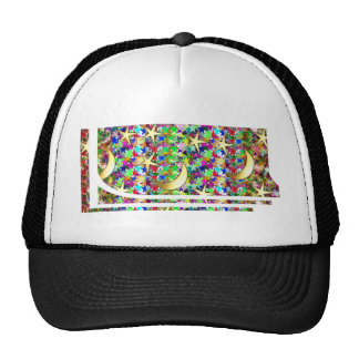 Moon and Stars : Elegant Starry night background Trucker Hats