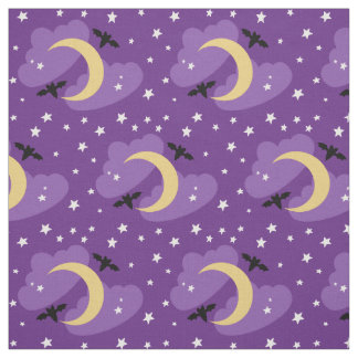 Moon and Stars | Halloween Fabric