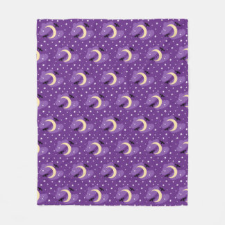 Moon and Stars | Halloween Fleece Blanket