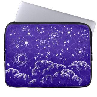 """Moon and Stars"" Laptop Sleeve Neoprene (WHBLUPUR)"