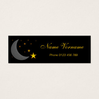 Moon and stars mini business card