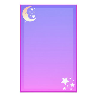 Moon and Stars Stationery