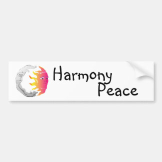 Moon And Sun, Harmony, Peace Bumper Sticker