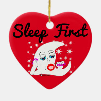 Moon and The Stars...and Sleep is What We Need Ceramic Heart Decoration
