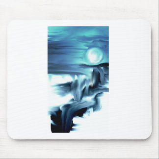 Moon and Water Mouse Pad