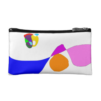 Moon and Wave Makeup Bag
