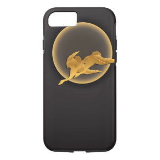 Moon and wild geese iPhone 7 case