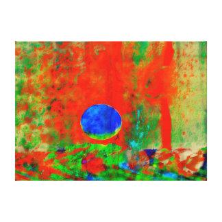 Moon Art   Orange Aroma Gallery Wrap Canvas