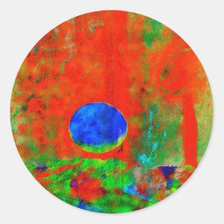 Moon Art | Orange Aroma Sticker