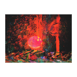 Moon Art   Pink Champagne And You Canvas Prints