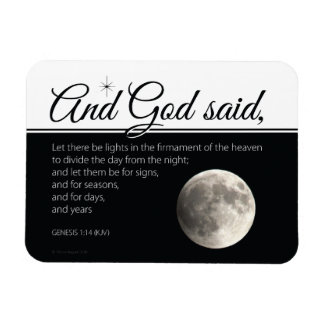 Moon as sign for seasons rectangular photo magnet
