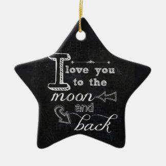 Moon Back Ornament