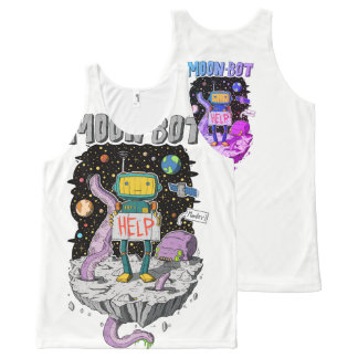 Moon-Bot All-Over Print Singlet