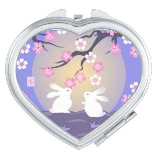 Moon Bunnies compact mirror