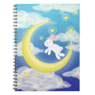 Moon Bunny Blue Notebooks