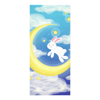Moon Bunny Blue Custom Rack Card