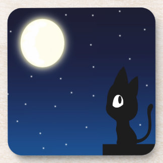 Moon Cat Drink Coaster