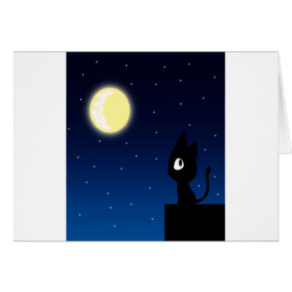 Moon Cat Greeting Card