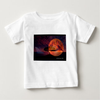 Moon cat meditations. baby T-Shirt