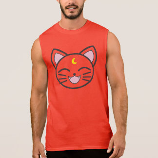 moon cat sleeveless shirt