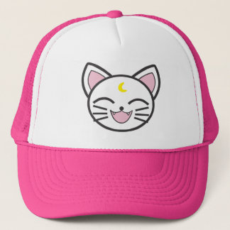 moon cat trucker hat