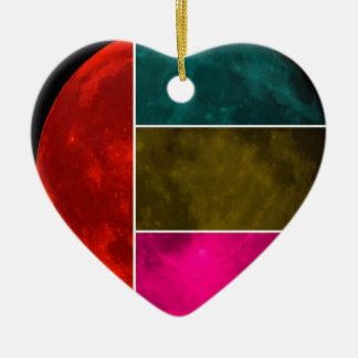 Moon Ceramic Heart Decoration