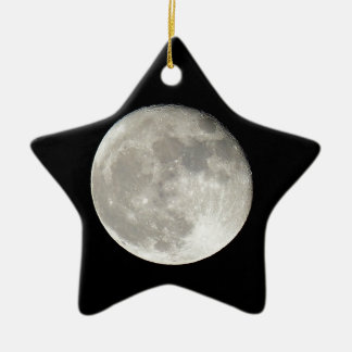 moon ceramic ornament