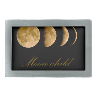 Moon child rectangular belt buckle