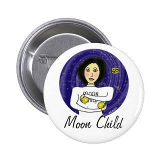 Moon Child Round Pinback Button
