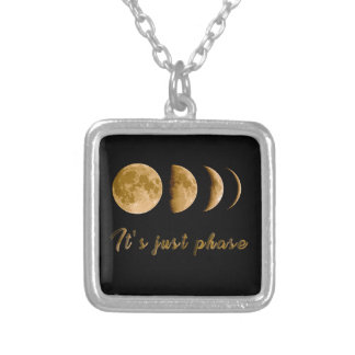 Moon child silver plated necklace