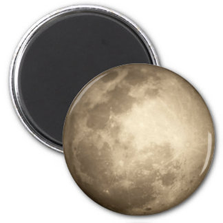 Moon Closer View Round Magnet