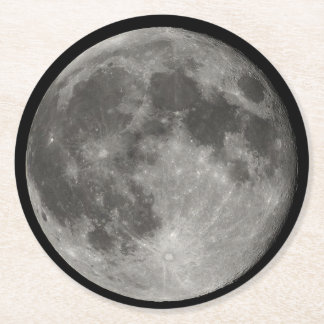 Moon Coaster Round Paper Coaster
