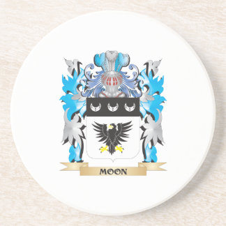 Moon Coat of Arms - Family Crest Coasters