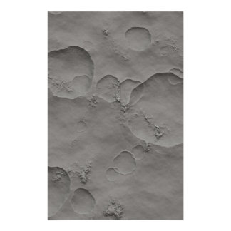 Moon Craters, Lunar Surface Stationery