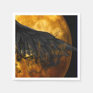 moon crow disposable serviettes