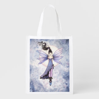 Moon Dance Fairy Fantasy Art Reusable Grocery Bag