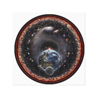 Moon, Earth and the Universe Canvas Print