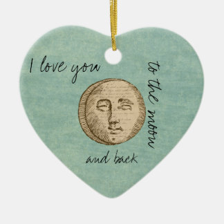 Moon Face Ceramic Ornament