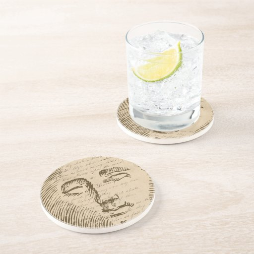 Moon Face Drink Coasters