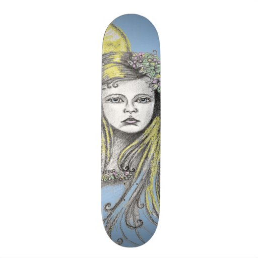 Moon Fairy Girl Skate Board