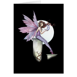 Moon Fairy Greeting Card by Molly Harrison
