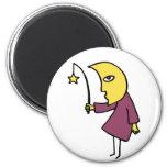 Moon Fishing Magnet
