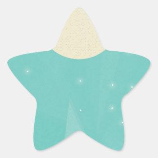 Moon Flower Star Sticker