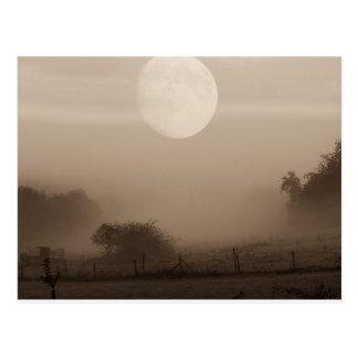 moon fog postcard